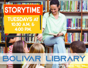 Early Literacy Hour - Bolivar @ Bolivar Storytime Room