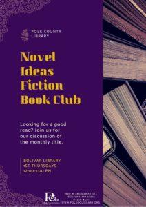 Novel Ideas Fiction Book Club @ Bolivar Library
