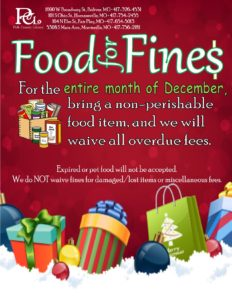 Food for Fines @ All Locations