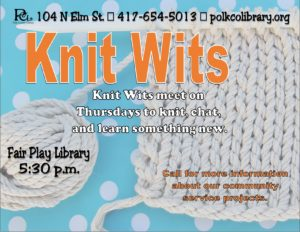 Knit Wits @ Fair Play Library