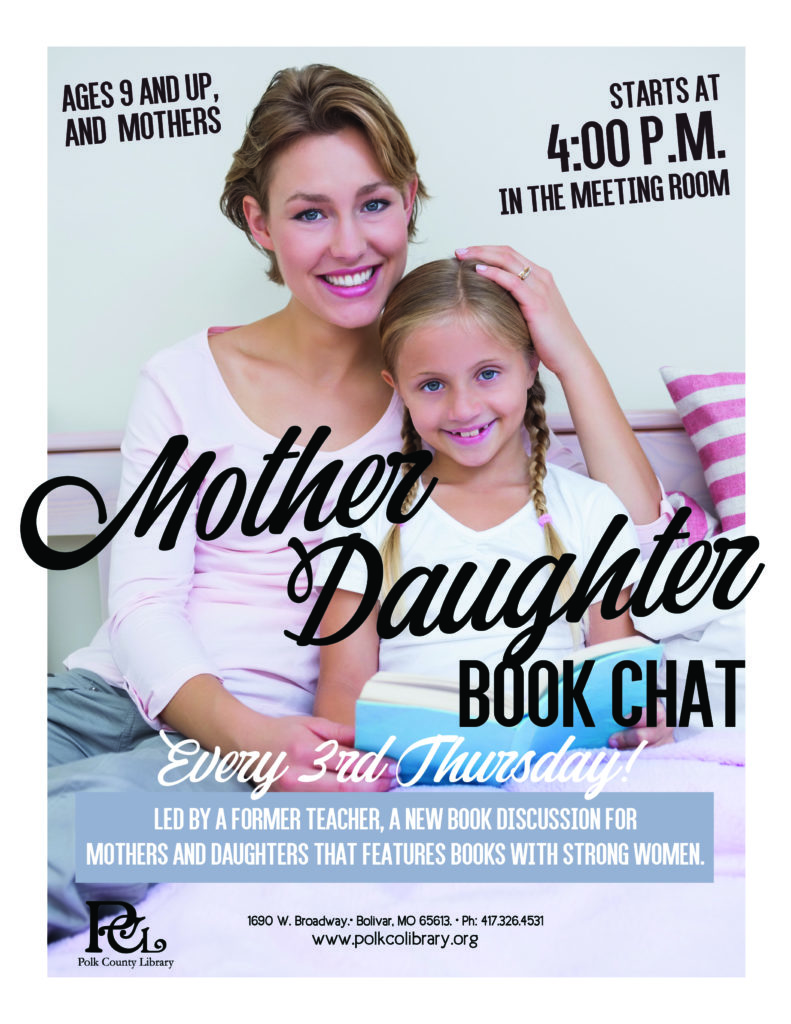 Mother Daughter Book Chat @ Bolivar Conference Room