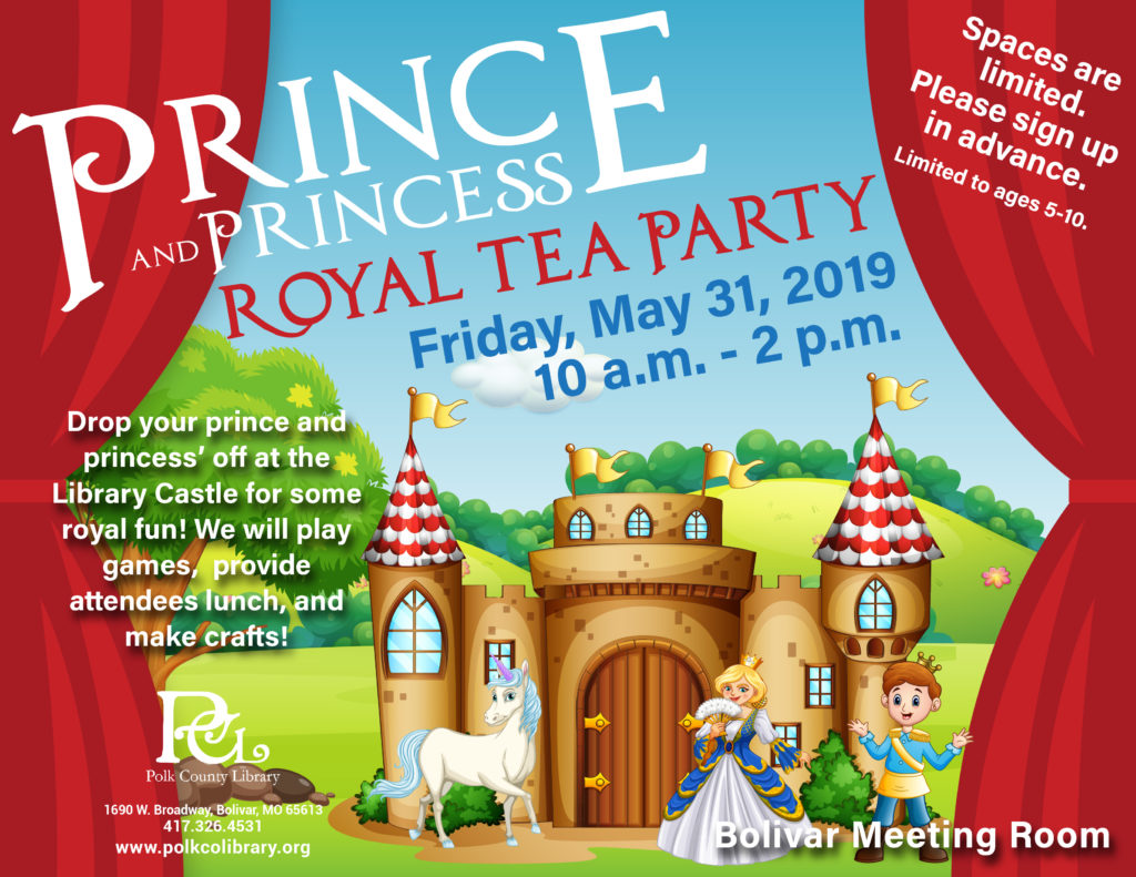 Prince and Princess Royal Tea Party @ Bolivar Meeting Room
