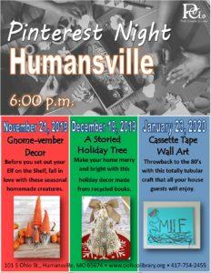 Humansville Pinterest @ Humansville Meeting Room