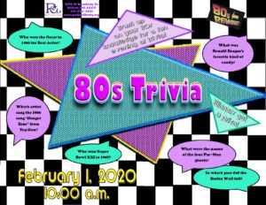 80s Trivia Night @ Bolivar Library