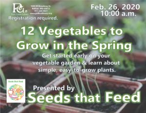 12 Vegetables to Grow in the Spring @ Bolivar Library Meeting Room