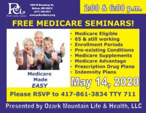Medicare 101 Seminar @ Bolivar Meeting Room