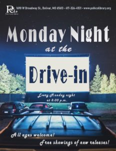 Monday Night at the Drive-in @ Bolivar Library