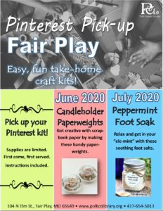 Pinterest Pick-up - Fair Play @ Fair Play Library