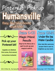 Pinterest Pick-up - Humansville @ Humansville Library