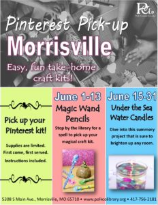 Pinterest Pick-up - Morrisville @ Morrisville Library