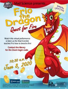Mad Science presents Frio the Dragon: Quest for Fire @ Zoom Meeting