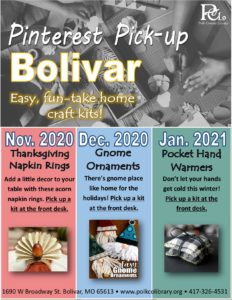 Pinterest Pick-up - Bolivar @ Bolivar Library