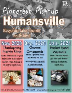 Pinterest Pick-up - Humansville @ Humansville Library