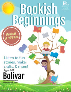 Bookish Beginnings - Bolivar @ Bolivar Library