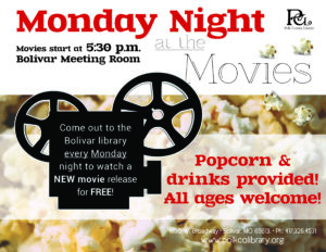 Monday Night at the Movies @ Bolivar Library