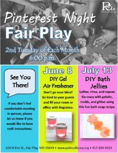 Pinterest Night @ Fair Play Library