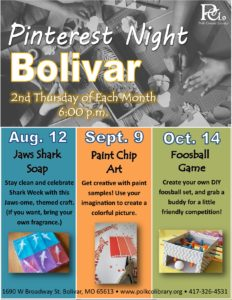 Pinterest Night @ Bolivar Library