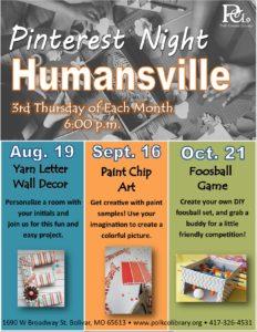 Pinterest Night @ Humansville Library
